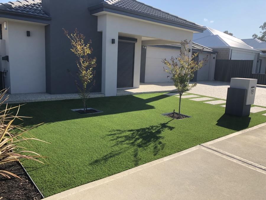 Swan Valley artificial grass installation Front yard Perth WA