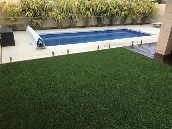 Artificial grass installation Around pool
