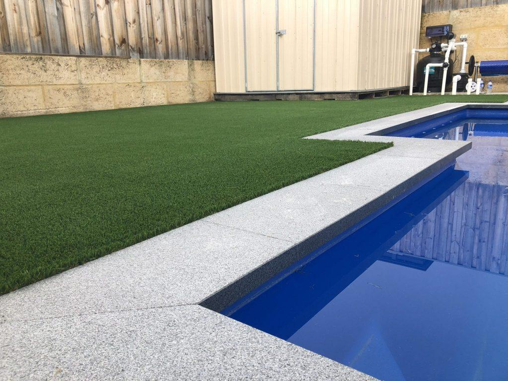 Synthetic grass installation South Lake