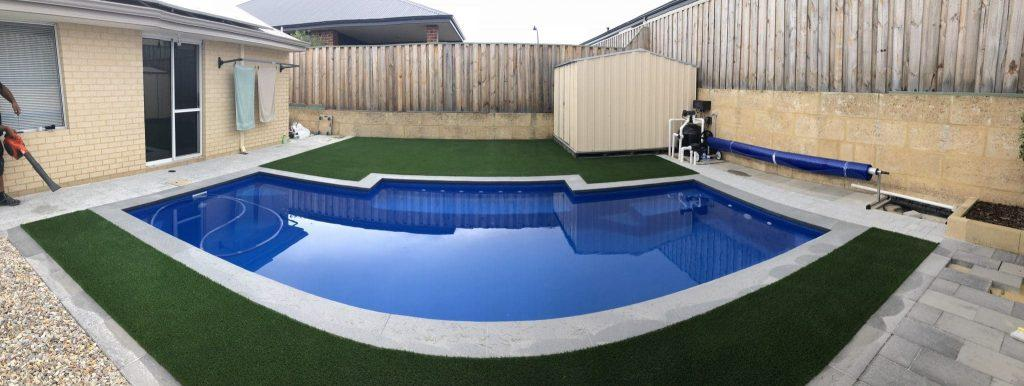 Artificial Grass in South Guildford backyard